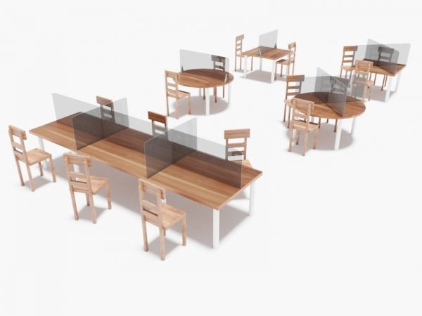Mamparas para mesa