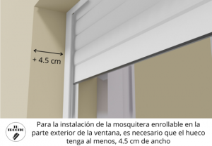 Mosquitera enrollable exterior