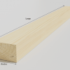 Liston de madera con medidas