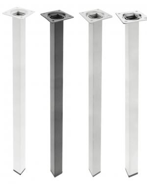 Patas de aluminio cuadradas