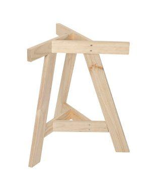 Pie de mesa de madera