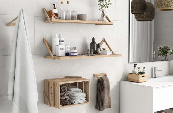 Escuadras de madera para baldas