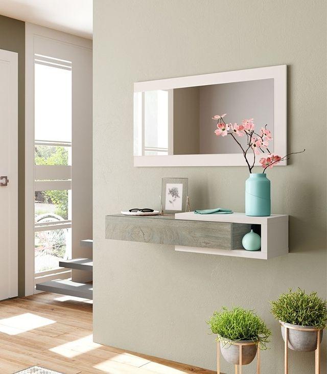 recibidores pequeños con espejo