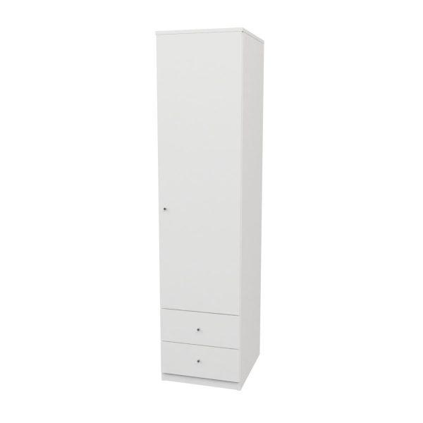 armario blanco una puerta