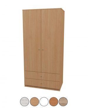 Armario de madera de dos puertas
